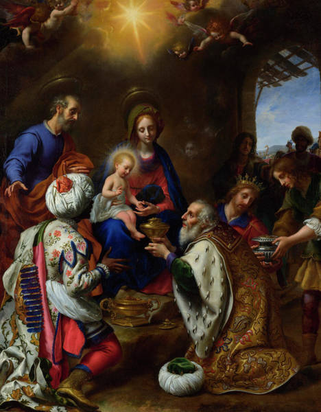 Seek Painting - The Adoration Of The Kings by Carlo Dolci