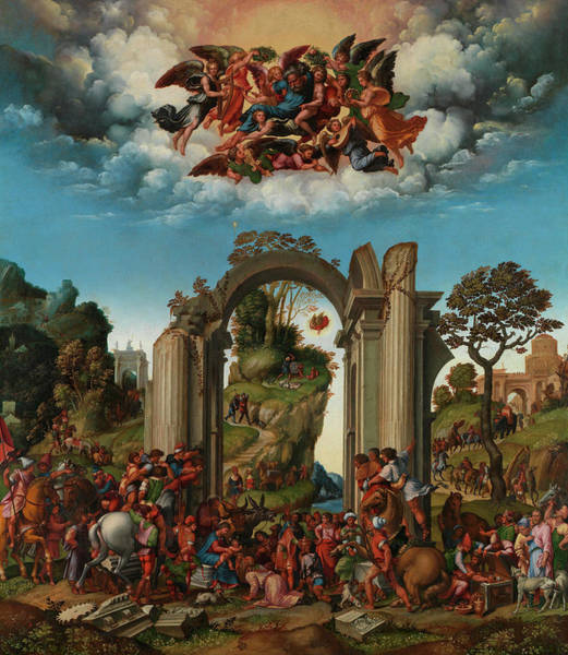 Gateway Painting - The Adoration Of The Kings by Girolamo da Treviso