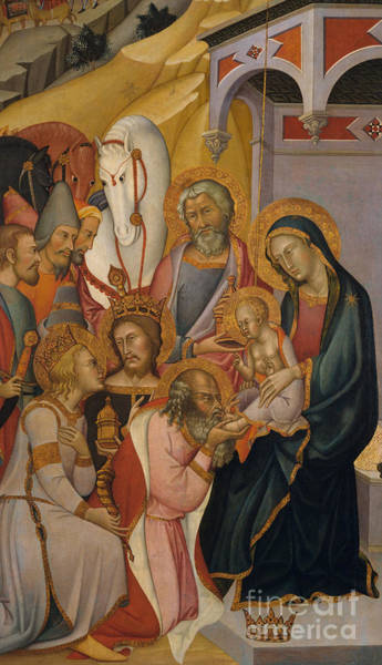 Wall Art - Painting - The Adoration Of The Magi by Bartolo di Fredi