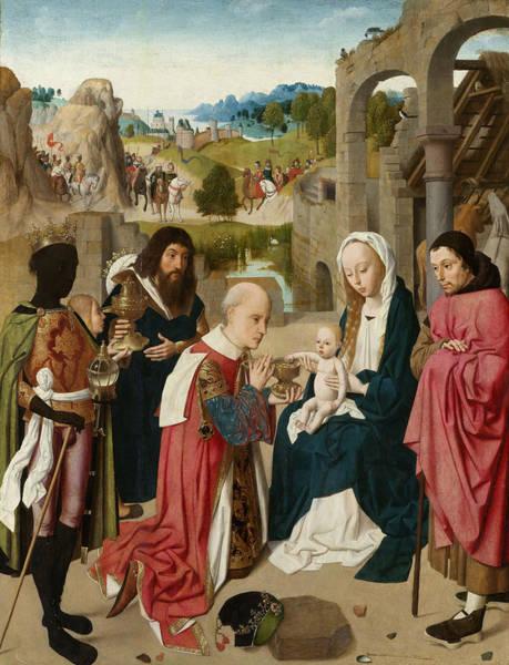 Redeemer Wall Art - Painting - The Adoration Of The Magi by Geertgen Tot Sint Jans
