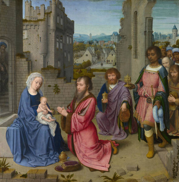 Redeemer Wall Art - Painting - The Adoration Of The Magi by Gerard David