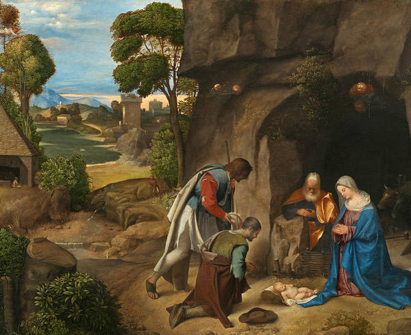 16th Century Wall Art - Painting - The Adoration Of The Shepherds by Giorgione