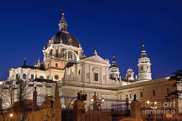 Senora Photograph - The Almudena Cathedral by John Greim