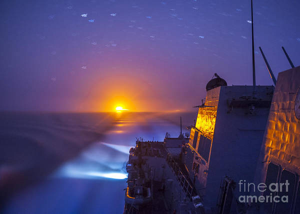 Wall Art - Painting - The Arleigh Burke-class Guided-missile Destroyer by Celestial Images