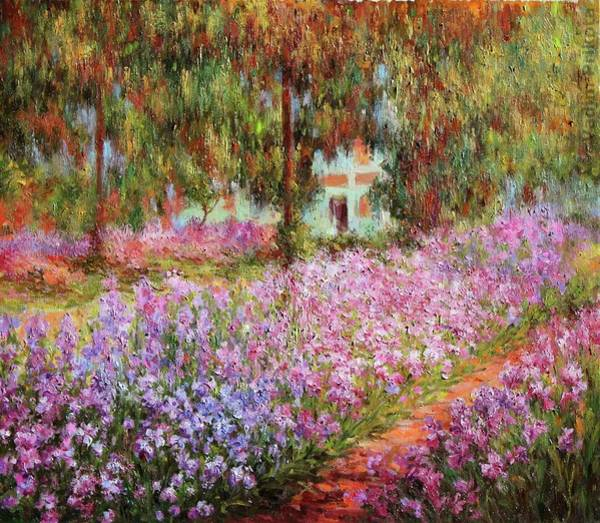 Painting - The Artists Garden At Giverny by Claude Monet