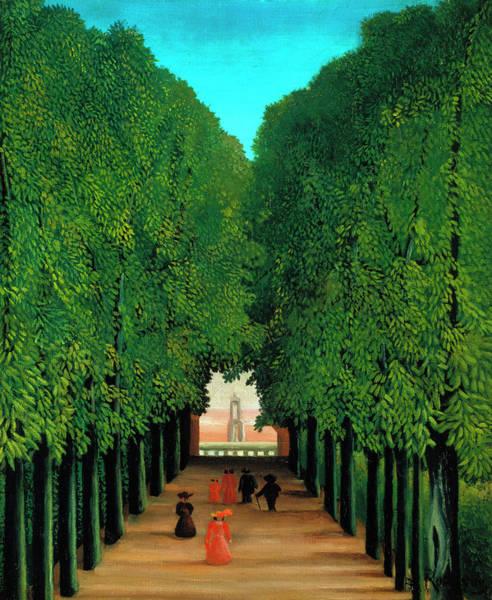 Park Avenue Painting - The Avenue In The Park At Saint Cloud by Henri Rousseau