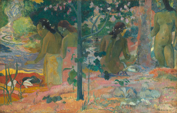Painting - The Bathers  by Paul Gauguin