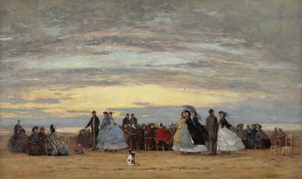 Painting - The Beach At Villerville by Eugene Boudin