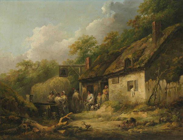 Wall Art - Painting - The Bell Inn by George Morland