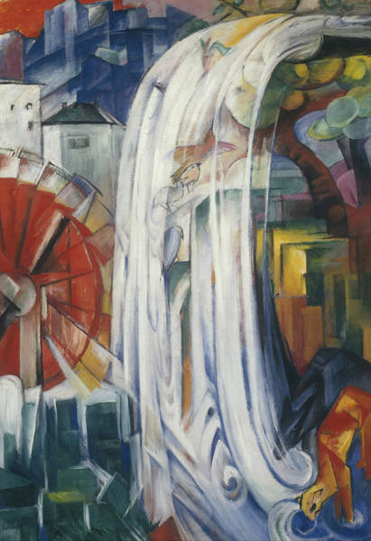 Painting - The Bewitched Mill by Franz Marc