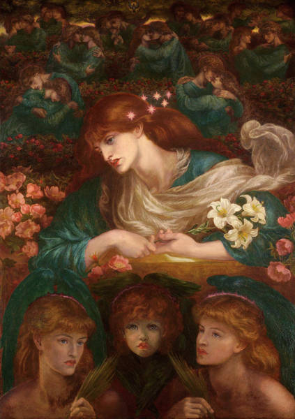 Wall Art - Painting - The Blessed Damozel by Dante Gabriel Rossetti