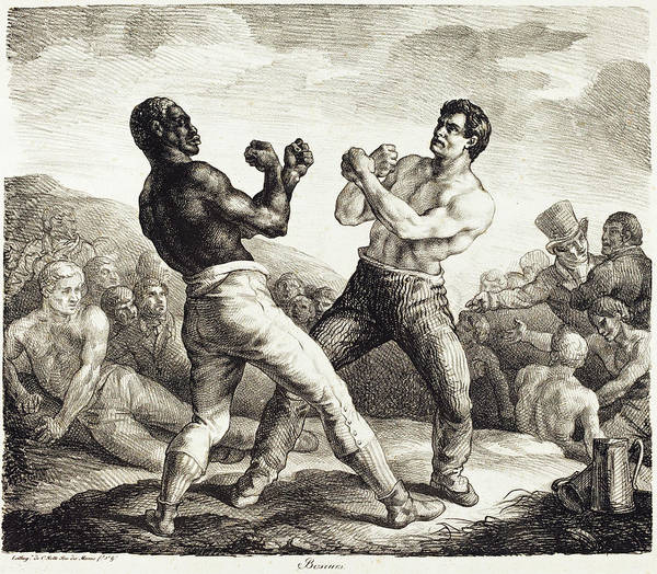 Drawing - The Boxers by Theodore Gericault