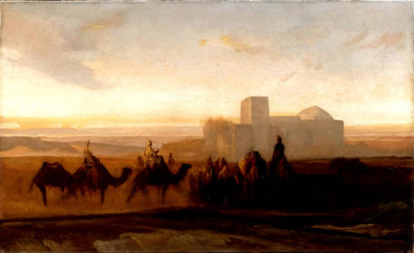 Wall Art - Painting - The Caravan by Alexandre-Gabriel Decamps