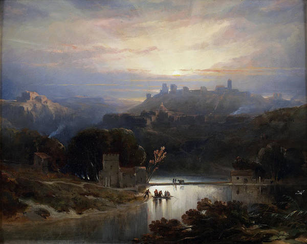 Painting - The Castle Of Alcala De Guadaira by David Roberts