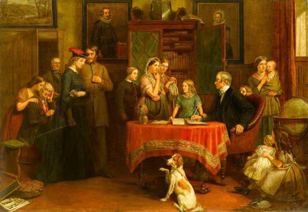 Census Painting - The Census Of April by Charles Landseer