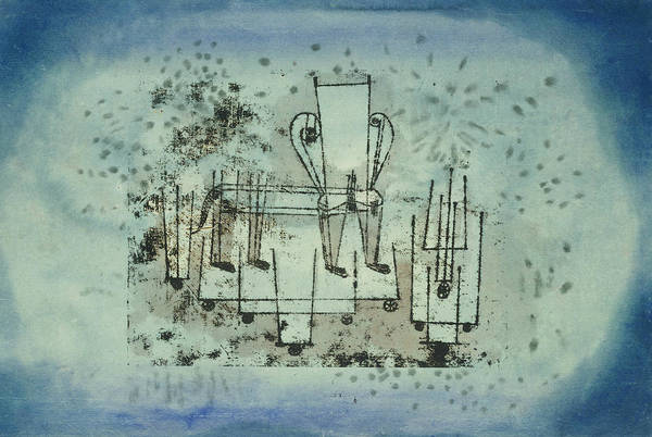 Drawing - The Chair-animal by Paul Klee
