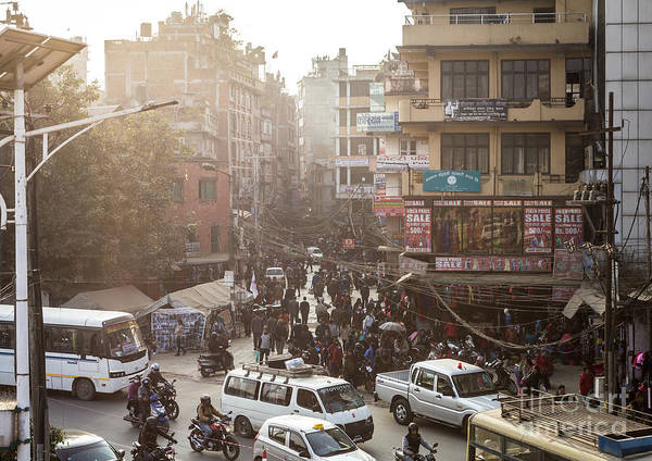 Photograph - The Chaotic Streets Of Kathmandu In Nepal by Didier Marti