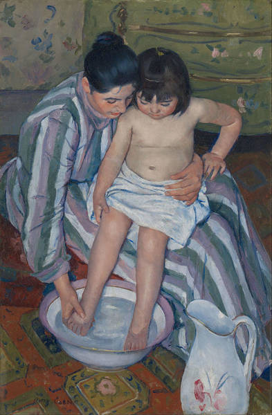 Wall Art - Painting - The Child's Bath by Mary Cassatt