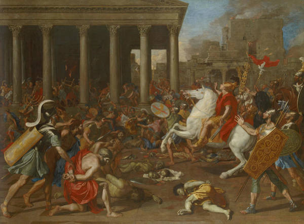 Painting - The Conquest Of Jerusalem By Emperor Titus by Nicolas Poussin