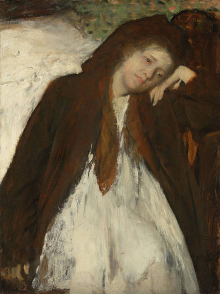 Sick Painting - The Convalescent by Edgar Degas