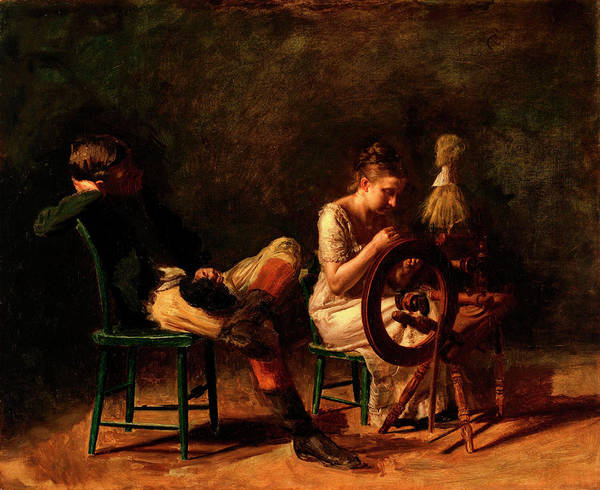 Courtship Wall Art - Painting - The Courtship by Thomas Eakins