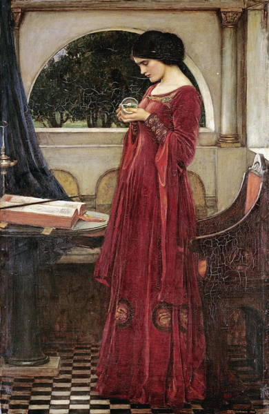 Painting - The Crystal Ball  by John William Waterhouse