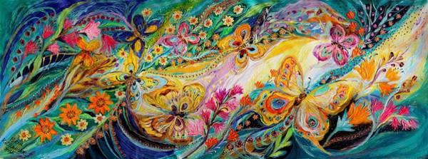 Kabbalistic Wall Art - Painting - The Dance Of Butterflies by Elena Kotliarker