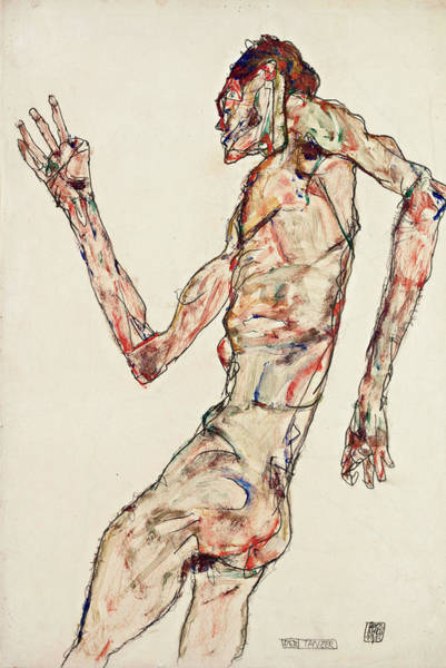 Wall Art - Painting - The Dancer by Egon Schiele