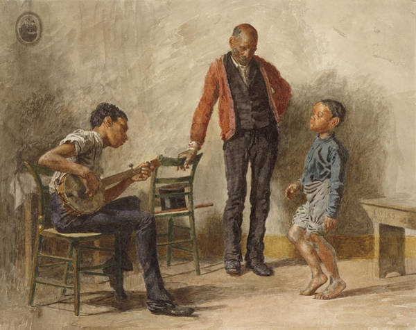 20th Century Man Drawing - The Dancing Lesson by Thomas Eakins