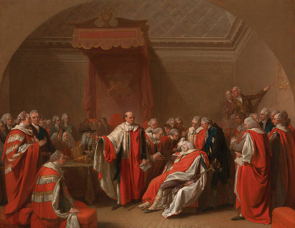 Collapse Painting - The Death Of Chatham by Benjamin West