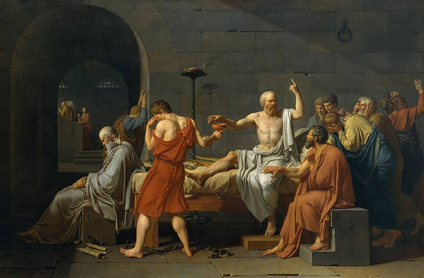 Mourning Painting - The Death Of Socrates by Jacques Louis David