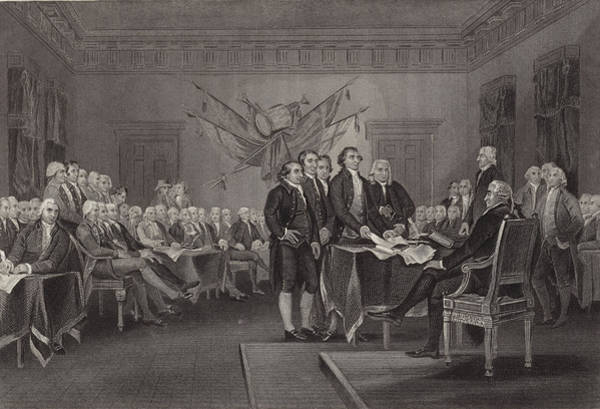 Declaration Of Independence Wall Art - Drawing - The Declaration Of Independence by American School