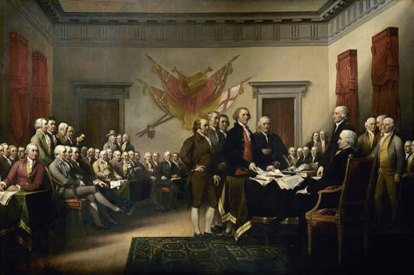 Declaration Of Independence Wall Art - Painting - The Declaration Of Independence by John Trumbull