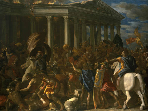 Painting - The Destruction And Sack Of The Temple Of Jerusalem by Nicolas Poussin