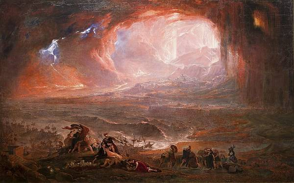 Wall Art - Painting - The Destruction Of Pompeii And Herculaneum by John Martin