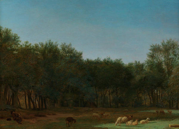 Rural Life Wall Art - Painting - The Edge Of A Wood by Adriaen van de Velde