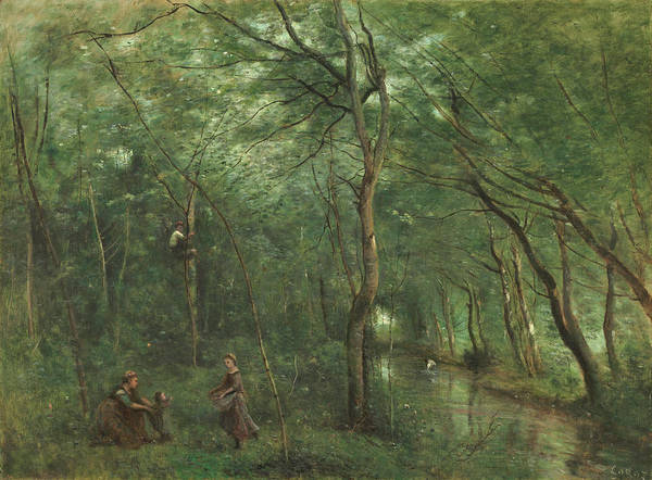 Painting - The Eel Gatherers by Jean-Baptiste-Camille Corot