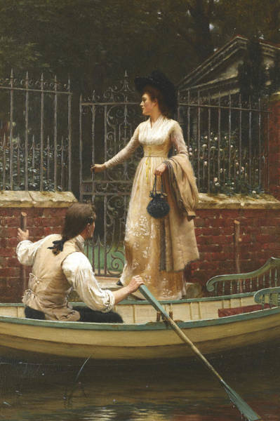 Wall Art - Painting - The Elopement by Edmund Leighton
