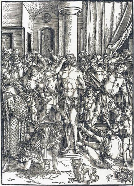 Drawing - The Flagellation by Albrecht Durer