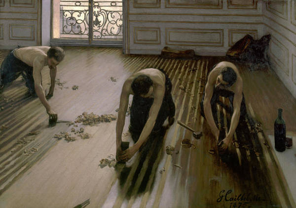 Wall Art - Painting - The Floor Planers by Gustave Caillebotte