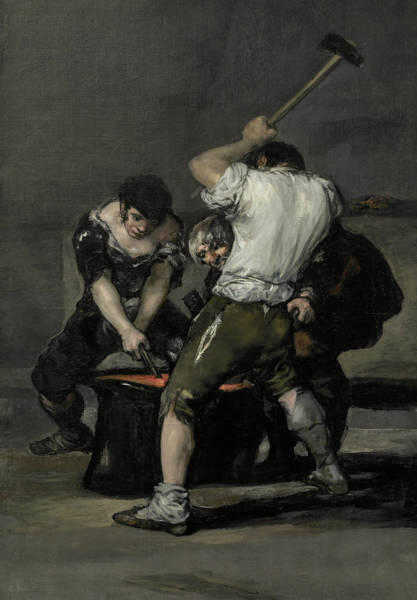 Forge Wall Art - Painting - The Forge  by Francisco Goya