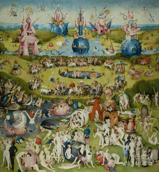 Eden Painting - The Garden Of Earthly Delights by Hieronymus Bosch