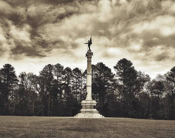 Battleground Photograph - The Georgia Monument - Chickamauga Battlefield by Mountain Dreams