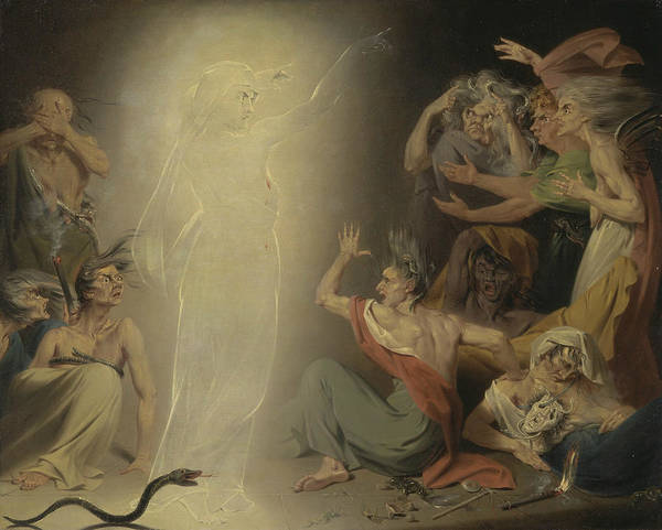 Painting - The Ghost Of Clytemnestra Awakening The Furies by John Downman