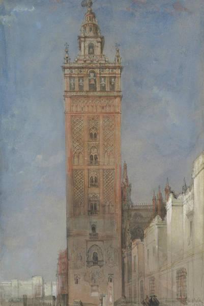 Drawing - The Giralda, Seville by David Roberts