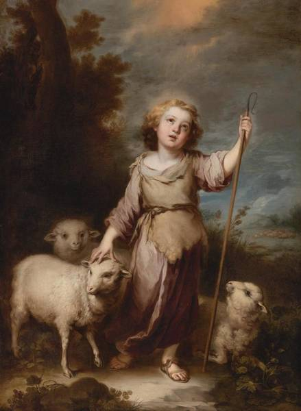 Wall Art - Painting - The Good Shepherd by MotionAge Designs