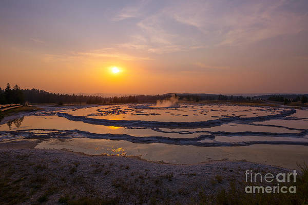 Geysers Photograph - The Great Fountain Geyser In Yellowstone  by Michael Ver Sprill