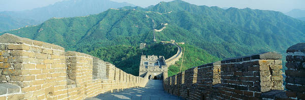 Fortification Photograph - The Great Wall At Mutianyu In Beijing by Panoramic Images