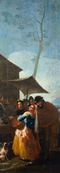 Service Dog Painting - The Hawthorn Seller by Francisco Goya