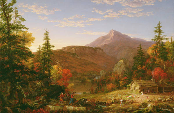 Mountain Range Painting - The Hunter's Return by Thomas Cole
